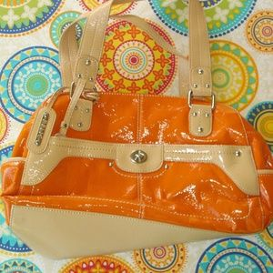 Relic Orange Patent Leather Shoulder Bag Purse